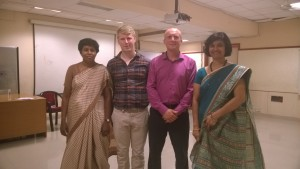 From Left: Sunila Mary, Dr. Ian Staton, Jayshree Ravi,